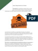 2013 Monóxido de carbono, Peligro Mortal en tu vivienda