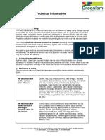Greenlam HPL Technical Information