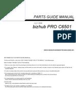 Bizhub Pro c6501-Parts Manual