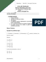 Guía 24A Fracciones. Problemas Tipos