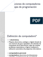 GeneracionComputadoraLenguajesProgramacion
