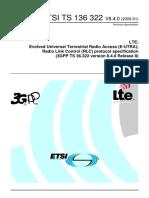3GPPTS 36.322 E-UTRARadio Link Control_ts_136322v080400p