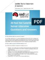 20 Red Hat Satellite Server Interview Questions and Answers