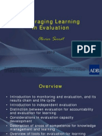 Leveraging Learning in Evaluation