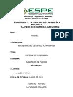 Informe Alineacion de Ruedas