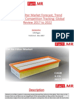 Car Air Filter Market Analysis, Size, Share, Growth, Trends and Forecast 2017 – 2022