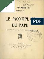 F. T. Marinetti - Le Monoplan Du Pape