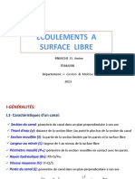 Ecoulements Surface Libre