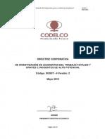 Directriz Corp de Investigación de Accidentes Del Trabajo Fatales y Graves e Incidentes de Alto