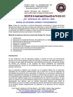 Edicion Especial Gmpo 00006 Manual de Contenidos, Normas y Procedimientos