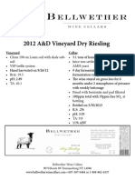 2012 Ad Dry Riesling Tech Notes