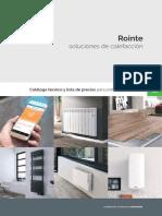 201701 Rointe Catálogo Técnico y Lista de Precios Para Profesionales Ctr17v1 España