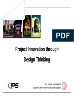 Project Innovation Through Design Thinking Webinar_Handout