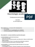 M Balan - Deontologie