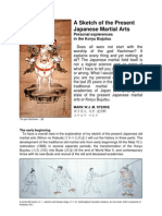 A Sketch of the Present Japanese Martial Arts