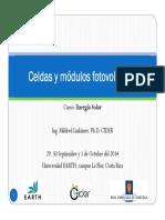 Celdas Solares Configuracion Modulos PV