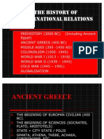 Introduction to International Relations - Historical Fact of Ir
