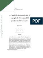 An Analytical Computation of Schwarzschild QN Frequencies