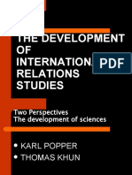 Introduction to International Relations - Development of Ir Studies