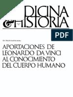 Bastos Mora Felipe - Aportaciones de Leonardo Da Vinci Al Conocimiento Del Cuerpo Humano