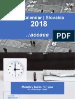 2018 Tax Calendar | Slovakia