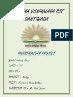 Ashish  biology investigatory project class 12