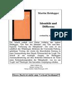 Heidegger - Identität und Differenz