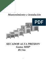 Manual Secador de Aire Compresion Alta Presion Mhp ( Similar Drytec )
