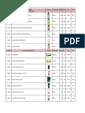 Vestige Product Price List + Image (1) pdf | Shampoo | Toiletry