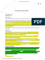 Project Planning for Factory Automation Article