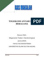 TOLERANSI ANTARUMAT BERAGAMA
