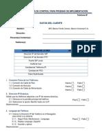 Lista de Control Para Pruebas de Implementación