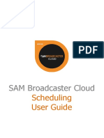 2 SAM Broadcaster Cloud User Guide - Scheduling