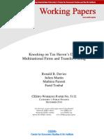 Knocking on Tax Haven Door