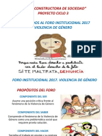 Foro sin video 2017 VIOLENCIA DE GÉNERO POWERPOINT