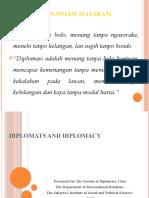 Diplomats and Diplomacy