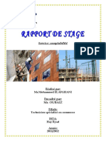 RAPPORT de STAGE Service Comptabilite