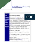 Droit de Contrats-The Contract Law