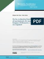 De la evolucion fonetica del latin al nacimiento de una nueva lengua. El frances y su correlato en español.pdf