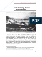 Historic Monterrey Mexico Devastated 1909