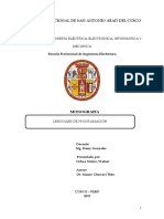 Monografía de Lenguajes de Programación UNSAAC1