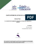 La Evolucion de La Legislación Educativa en Costa Rica, Arce Gomez Celin.