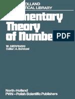 Elementary Theory of Numbers - W. Sierpinski