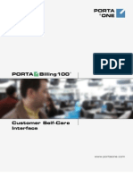 PB-100 Customer Self-Care Interface