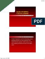 Basic Pumping Calculations