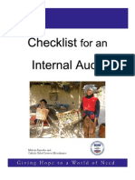 Checklist Internal Audit