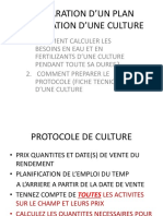 Preparation d'Un Plan d'Irrigation d'Une Culture