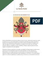 Escudo Benedicto Xvi