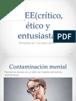 Taller_Entrenar La Mente Para Desarrollar El Prensamiento Critico, Creativo y Etico
