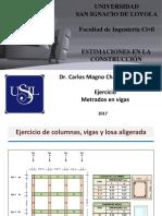 16. Metrados Conc. y Encof. en Losa de Techo Ejercicios (1)